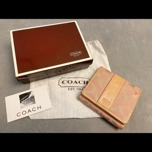 Used coach mini continental wallet